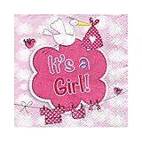 """Papierserviette """"It's a Girl"""", 25 x 25 cm, 20 Stück"""