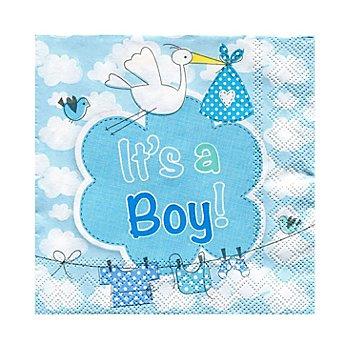Serviettes en papier 'It's a Boy', bleu