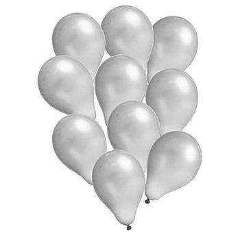 Luftballons 'Metallic', silber, 10 Stück