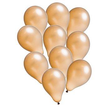 Luftballons 'Metallic', gold, 10 Stück