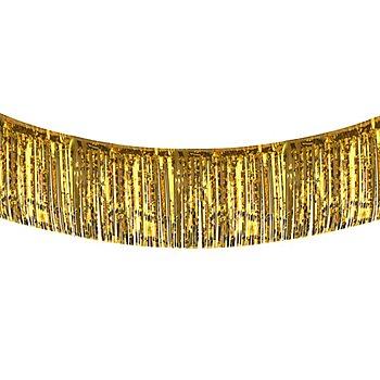Guirlande à franges en film plastique, doré, 6 m