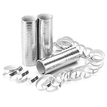 Luftschlangen 'Metallic', silber