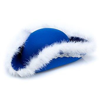 Funkenhut mit Marabu Besatz für Kinder, blau