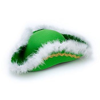 Funkenhut mit Marabu Besatz, grün