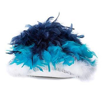 Gardehut mit Federn für Kinder, türkis/blau