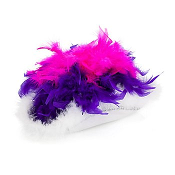 Gardehut mit Federn, fuchsia/violett