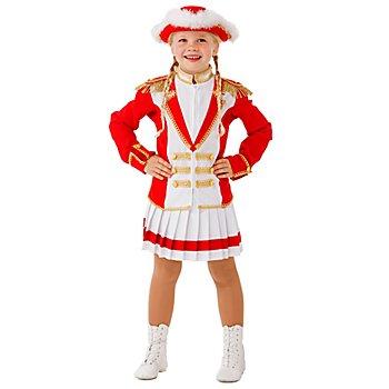 Déguisement majorette 'style major' pour enfants, rouge