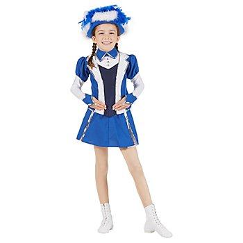 buttinette Gardekostüm im Jacket-Stil für Kinder, blau/weiss