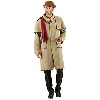 Detektiv-Kostüm für Herren, braun/rot