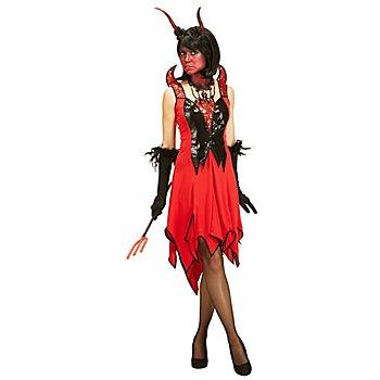 Teufelin Kleid, rot/schwarz