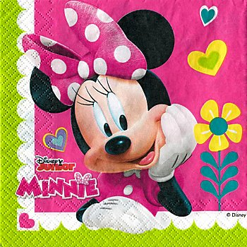 Papierserviette 'Minnie', 33 x 33 cm, 20 Stück
