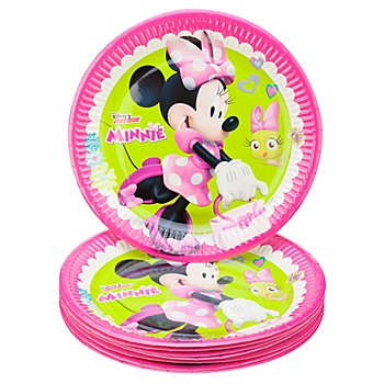 Pappteller 'Minnie', Ø 23 cm, 8 Stück