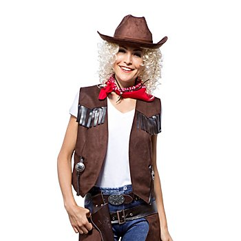 Cowgirl-Weste für Damen, braun