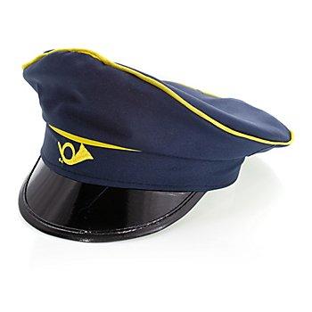 buttinette Mütze Briefträger, blau/gelb