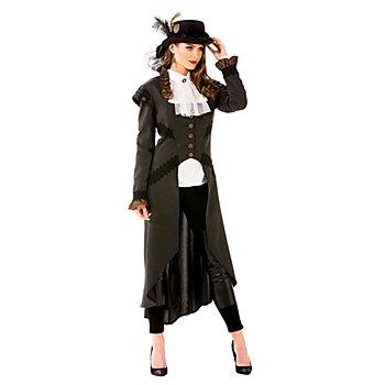 Manteau Steampunk pour femmes, gris