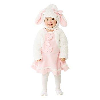 Robe 'mouton' pour bébés, blanc/rose