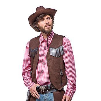 Cowboy-Weste für Herren, braun