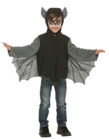 Fledermaus Cape Fur Kinder Schwarz Grau Online Kaufen