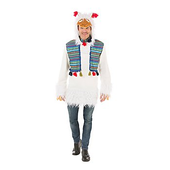 Haut 'lama' pour hommes, blanc/multicolore