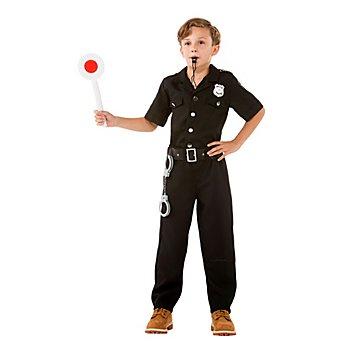 Polizist Kostüm, schwarz