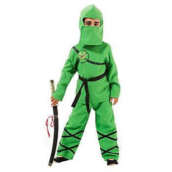 Déguisement 'ninja' pour enfants, vert/noir