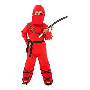 Ninja-Kostüm für Kinder, rot