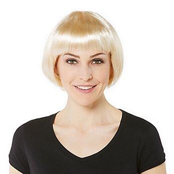 Perruque bob avec frange, blond