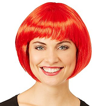 Bob-Perücke, rot