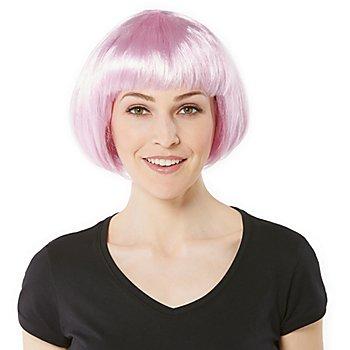 Bob-Perücke, rosa
