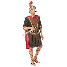 Gladiator-Kostüm 'Xanthos', braun/schwarz/rot