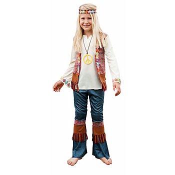 Hippie-Kostüm 'Love & Peace' für Mädchen