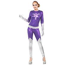 Combinaison 'Space Girl' pour femmes, violet/argent