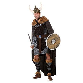 Déguisement de Viking 'Valgard' pour hommes, gris/noir