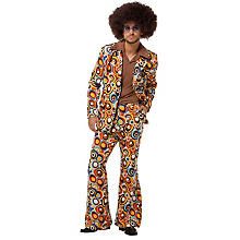 Costume rétro pour hommes, multicolore