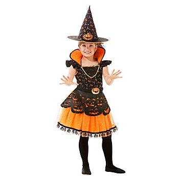 Kürbis-Hexe-Kleid für Kinder