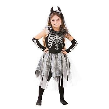 Skelett-Kleid 'Skeletta' für Kinder