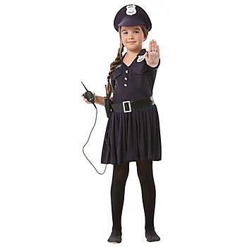 Robe 'jeune policière' pour enfants, noir