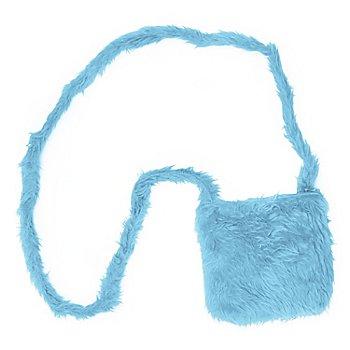 buttinette Tasche Plüsch, hellblau