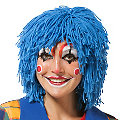 "Wollperücke ""Clown"", blau"