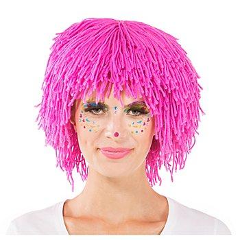 Wollperücke 'Clown', pink