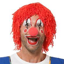 Wollperücke 'Clown', rot