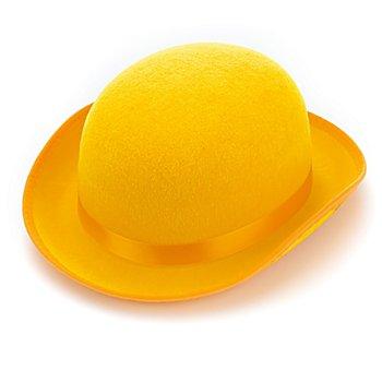 Chapeau melon 'clown', jaune