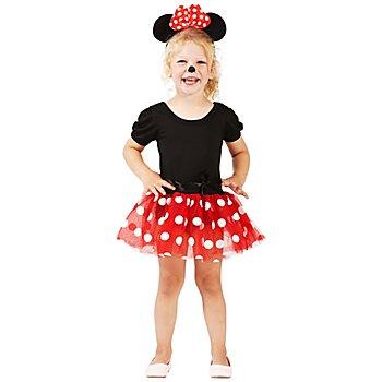 buttinette Kinderkostüm Mäuschen rot/weiß