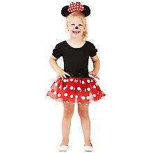 buttinette Déguisement 'souris' pour enfants, rouge/blanc