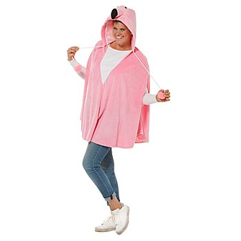 buttinette Poncho 'flamant', rose