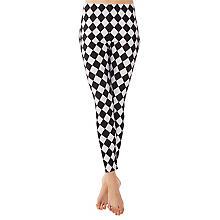 Legging 'losange', noir/blanc