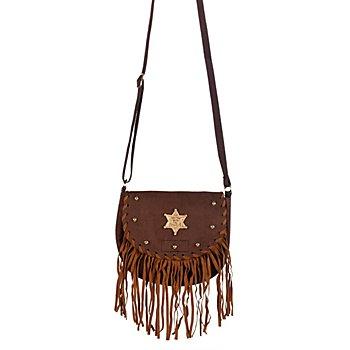 Cowgirl-Tasche mit Stern, braun
