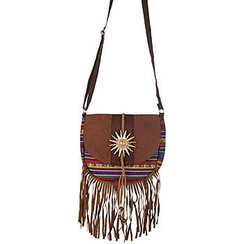 Hippie-Tasche, braun/bunt