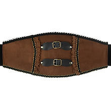 buttinette Ceinture Steampunk, marron/noir/or