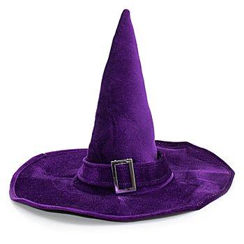 Chapeau de sorcière pour adultes, violet